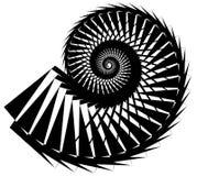 Геометрическая, угловая улитка, винтовая линия, элемент волюты изолированный на whit Стоковое фото RF