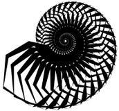 Геометрическая, угловая улитка, винтовая линия, элемент волюты изолированный на whit Стоковые Фото