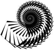 Геометрическая, угловая улитка, винтовая линия, элемент волюты изолированный на whit Стоковые Фотографии RF