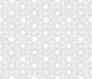 Геометрическая флористическая серая картина с белой предпосылкой иллюстрация штока