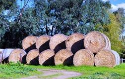 Геометрическая форма большого стога связок сена Стоковое Изображение RF