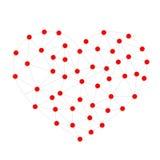 Геометрическая форма от треугольников Сеть сердца Стоковое Изображение RF