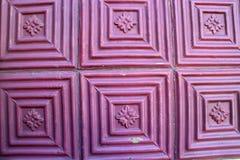Геометрическая форма плитки, Cabo da Roca, Португалии Стоковое фото RF