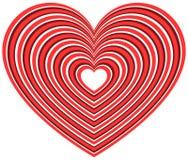 Геометрическая форма сердца контура Стоковые Изображения RF
