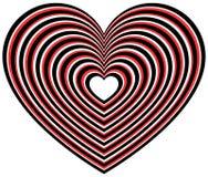 Геометрическая форма сердца контура Стоковые Фото