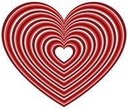 Геометрическая форма сердца контура Стоковая Фотография RF