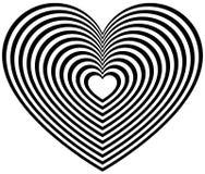 Геометрическая форма сердца контура Стоковая Фотография