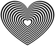 Геометрическая форма сердца контура Стоковые Изображения