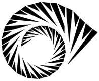 Геометрическая форма - угловой нервный элемент на белизне Стоковое Фото