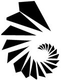 Геометрическая форма - угловой нервный элемент на белизне Стоковые Изображения RF