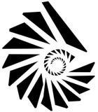 Геометрическая форма - угловой нервный элемент на белизне Стоковое Изображение RF