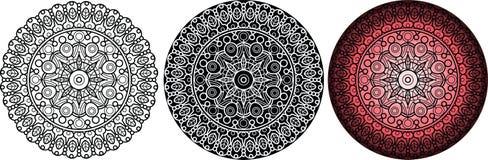 Геометрическая флористическая мандала с листьями вектор орнамента круглый изолировано иллюстрация вектора