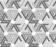 Геометрическая черно-белая безшовная картина, бесконечное striped vect Стоковые Фото