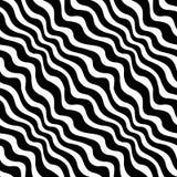 Геометрическая черно-белая картина weave печати графического дизайна Стоковые Фотографии RF