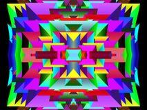 Геометрическая яркая и современная картина стиля иллюстрация штока