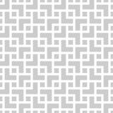 Геометрическая monochrome безшовная картина в азиатском стиле Стоковые Изображения RF