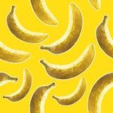 Геометрические бананы, желтая предпосылка Стоковые Фотографии RF