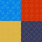 Геометрические безшовные установленные картины Линии круги Стоковая Фотография