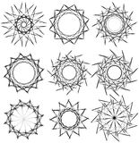 Геометрические вращая элементы - радиальные формы Спираль, elem вортекса Стоковые Изображения RF