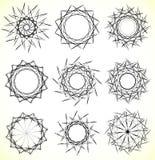Геометрические вращая элементы - радиальные формы Спираль, elem вортекса Стоковое фото RF