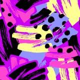 Геометрические изогнутые линии ремесло выразительное I руки граффити безшовное Стоковая Фотография