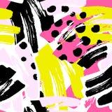 Геометрические изогнутые линии ремесло выразительное I руки граффити безшовное Стоковое Изображение