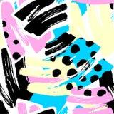 Геометрические изогнутые линии ремесло выразительное I руки граффити безшовное Стоковые Изображения RF