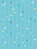 Геометрические линии предпосылка форм полигонов голубая примитивная Стоковые Фото