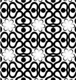 Геометрические картины черно-белых цветков Стоковые Изображения RF