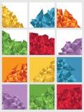 Геометрические квадраты иллюстрация штока