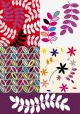 геометрические листья Стоковое фото RF