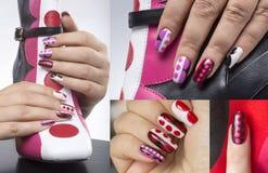 Геометрические ногти стоковая фотография rf
