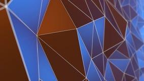 Геометрические полигоны с решеткой сетки резюмируют предпосылку Стоковое Фото