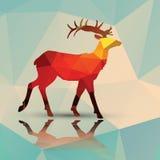 Геометрические полигональные олени, дизайн картины Стоковые Фото