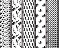 Геометрические сделанные по образцу листья Стоковое Фото