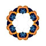 Геометрические формы бабочки на белой предпосылке выглядеть как вред Стоковые Фотографии RF