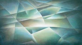 Геометрические формы голубые и зеленые иллюстрация вектора