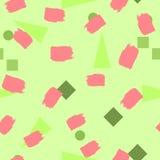 Геометрические формы и ходы щетки цветастая картина безшовная бесплатная иллюстрация