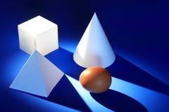 Геометрические формы и яичко Стоковое Фото