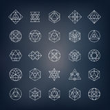 Геометрические формы - священная геометрия Стоковые Изображения