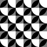 Геометрические черно-белые картина/предпосылка Плавно repea Стоковое Фото