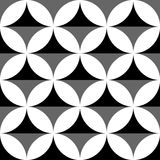 Геометрические черно-белые картина/предпосылка Плавно repea Стоковое Изображение