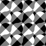 Геометрические черно-белые картина/предпосылка Плавно repea Стоковые Изображения