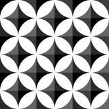 Геометрические черно-белые картина/предпосылка Плавно repea Стоковая Фотография RF