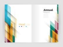 Геометрические шаблоны годового отчета дела, современный шаблон рогульки брошюры Стоковые Фото
