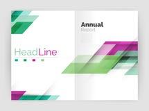 Геометрические шаблоны годового отчета дела, современный шаблон рогульки брошюры Стоковая Фотография