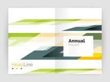 Геометрические шаблоны годового отчета дела, современный шаблон рогульки брошюры Стоковая Фотография RF