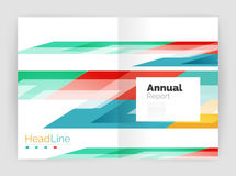 Геометрические шаблоны годового отчета дела, современный шаблон рогульки брошюры Стоковое Изображение