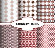 Геометрические этнические картины Стиль вышивки стоковые фотографии rf