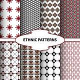 Геометрические этнические картины стоковые фото